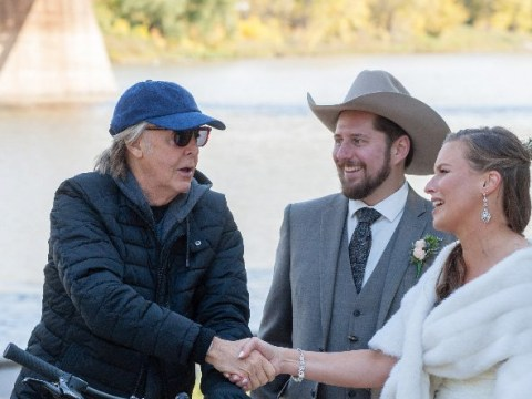 All You Need Is Love: Sir Paul McCartney photobombs happy couple's official wedding pictures