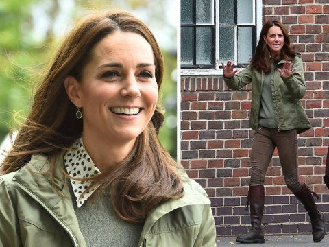Casual Kate Middleton gets back to work after her longest-ever maternity leave with Prince Louis