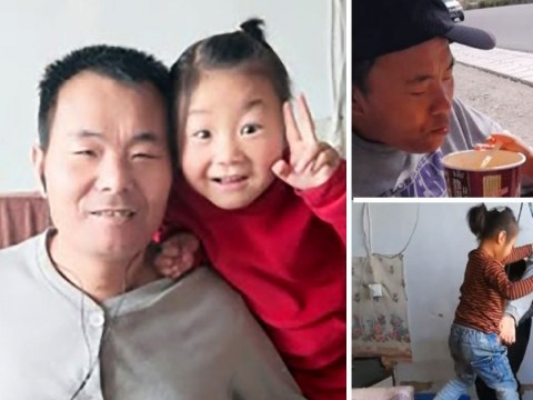 Girl, 6, takes care of paralysed dad alone after her mother abandoned them