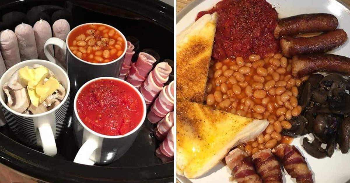 Woman shares hack for cooking a full English breakfast overnight in a slow cooker