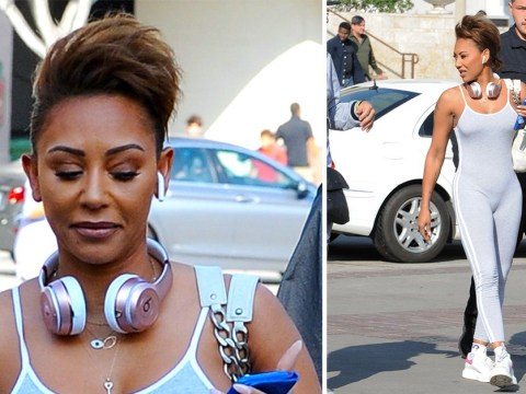 Mel B arrives at America's Got Talent: Champions in sporty all-grey one-piece as fan favourites make a comeback