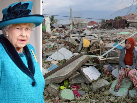 Queen makes private donation to Indonesia earthquake victims as death toll reaches 1,649