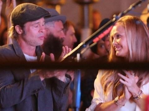 Brad Pitt shares a laugh with 'spiritual healer' Sat Hari Khalsa amid Angelina Jolie divorce