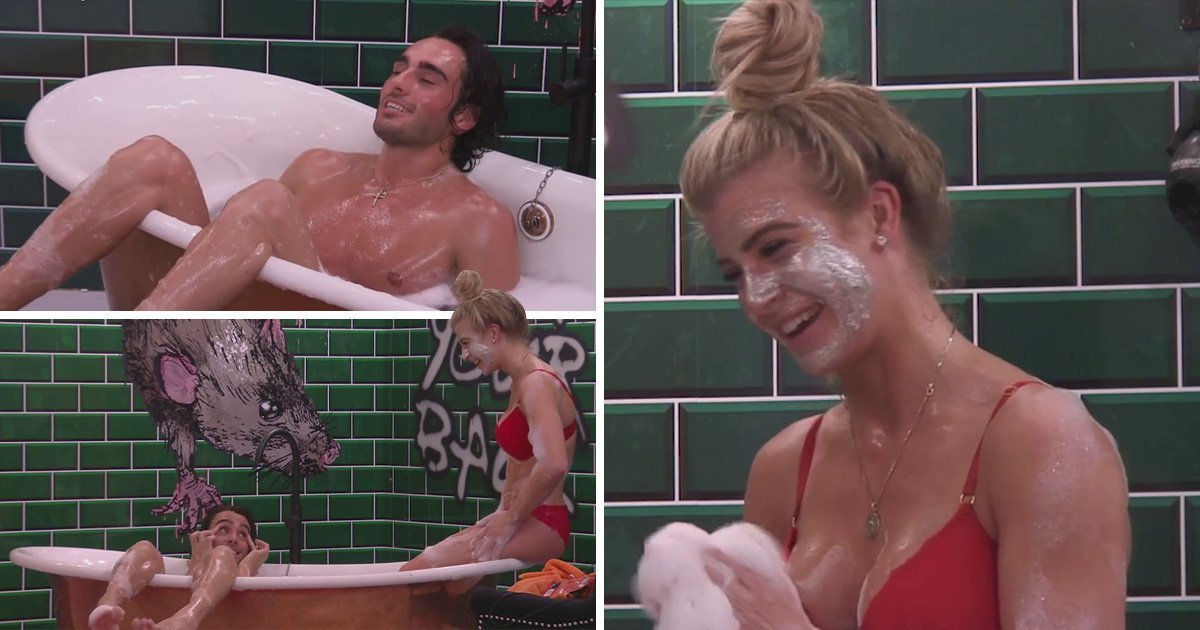 Big Brother's Lewis F and Isabella share a bath 'date' just one day after she enters house