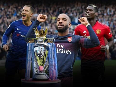 Paul Pogba, Alexandre Lacazette and Eden Hazard shine as Premier League title race heats up