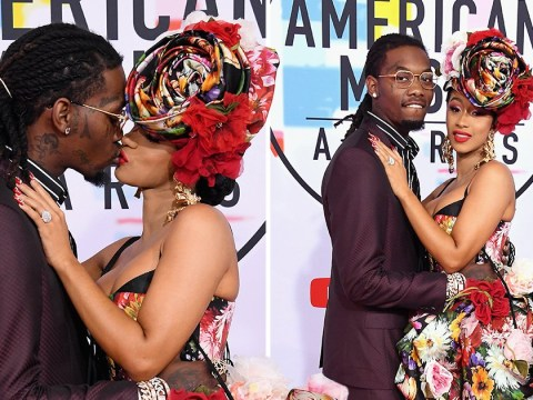 Cardi B and Offset bring the heat to the AMAs as they shut down the red carpet with steamy PDA