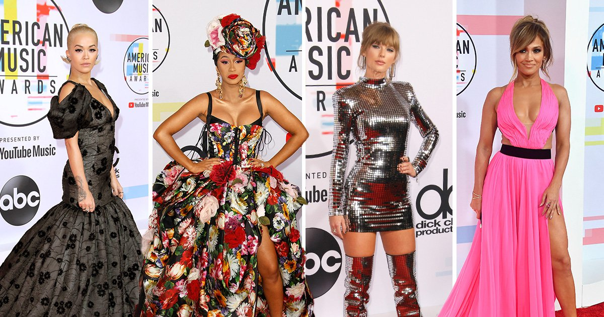 Cardi B and Offset pack on PDA as Taylor Swift becomes walking mirrorball at the American Music Awards 2018