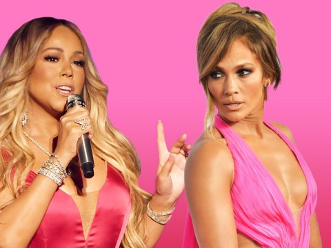 Longtime rivals Mariah Carey and Jennifer Lopez risk fashion showdown in matching pink gowns at AMAs