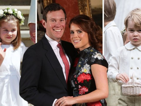 George, Charlotte and Robbie Williams' daughter Theodore will be Princess Eugenie's page boy and bridesmaids at royal wedding