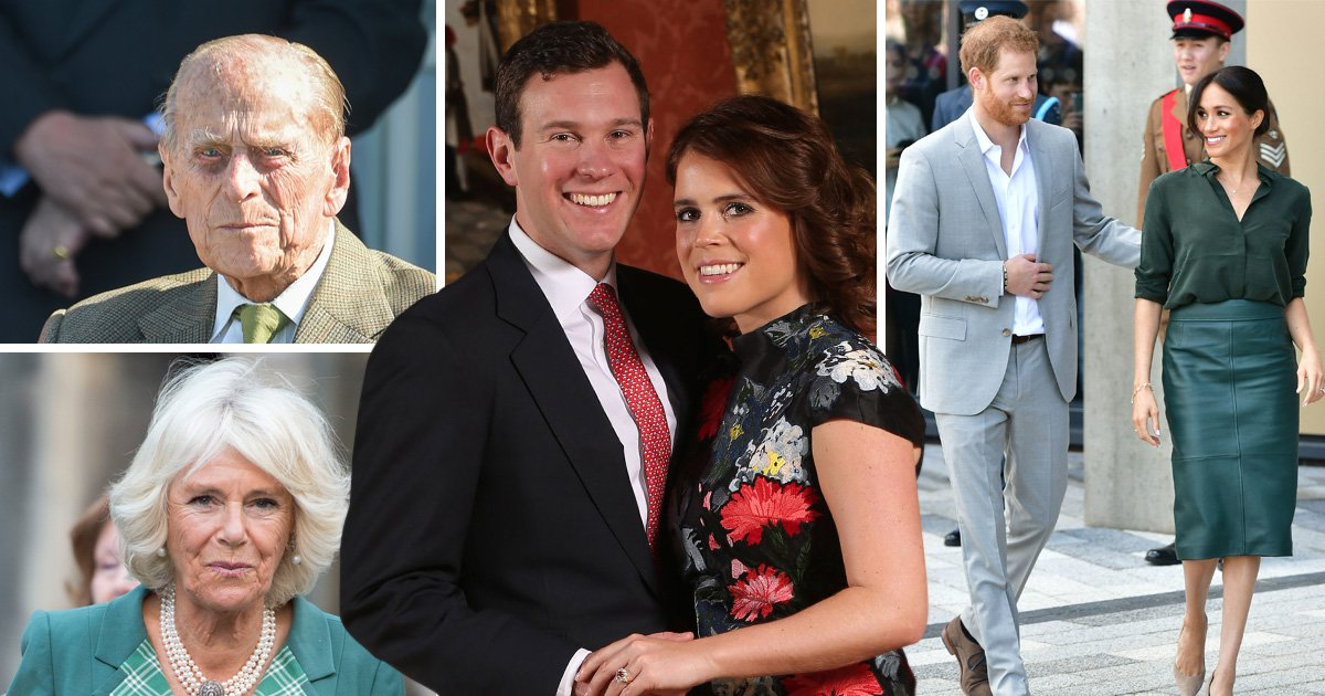 Will Prince Philip, Camilla, Prince Harry and Meghan Markle snub Princess Eugenie's wedding?
