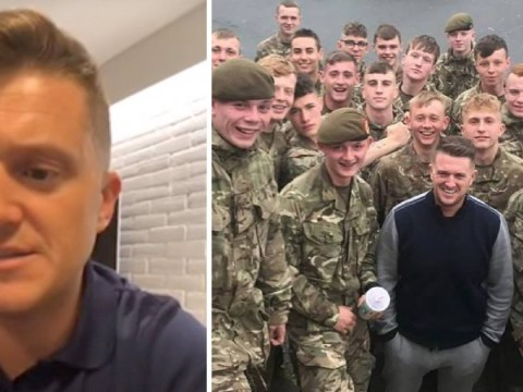Tommy Robinson rallies behind soldier facing dismissal over selfie with troops