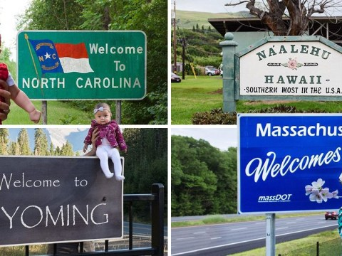 Five-month-old baby is set to become youngest person to visit all 50 U.S states