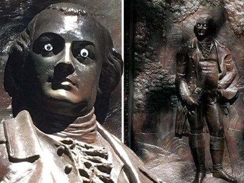 Hunt launched for dastardly criminal who put googly eyes on a statue