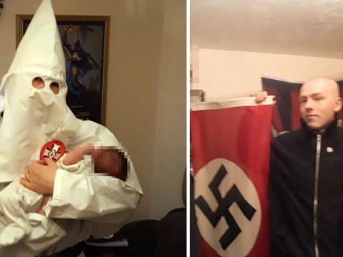 'Neo-Nazi' pictured with baby he named after Hitler wearing Ku Klux Klan robes