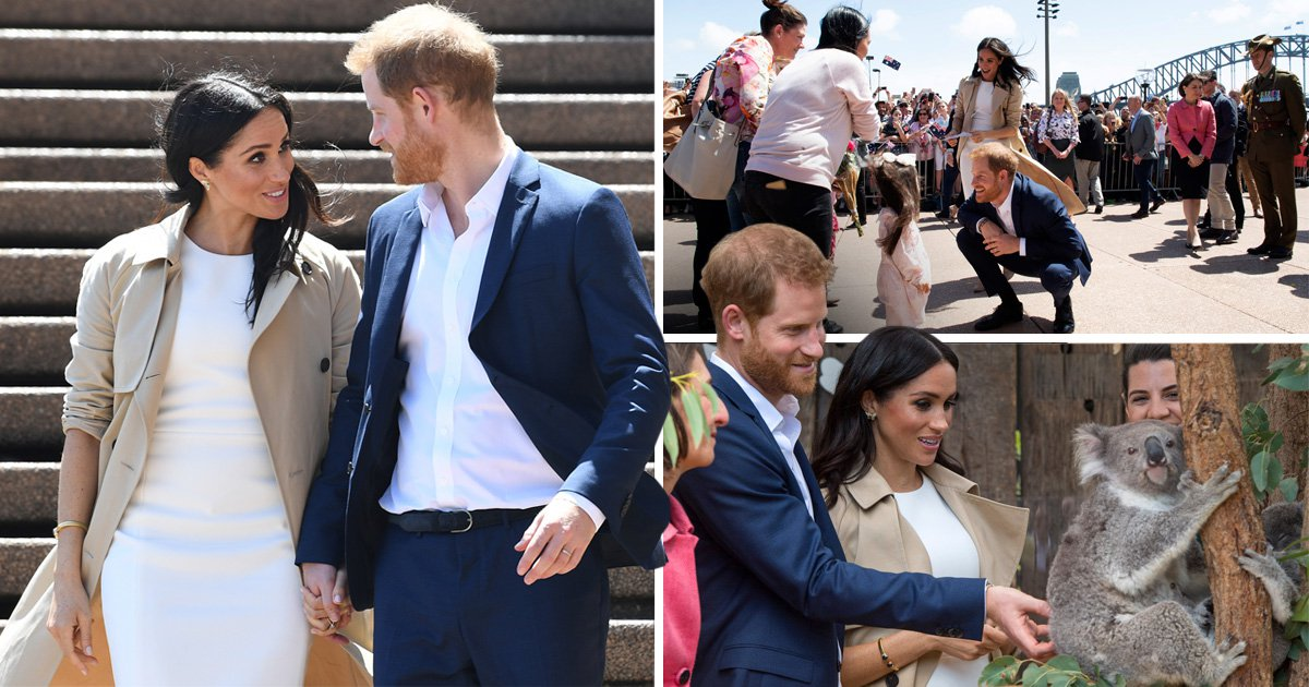 Harry and Meghan say G'day to thousands before Aussie welcome of beer at tea