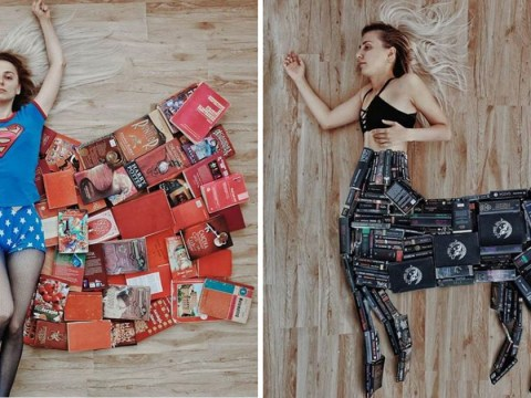 Woman creates brilliant Instagram pictures using just books