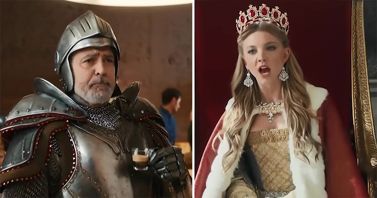 George Clooney serves Game of Thrones' Natalie Dormer in nod to actual queen Margaery Tyrell for new Nespresso ad