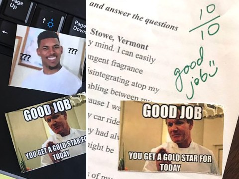 High school teacher uses memes to mark students' work and it's brilliant