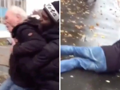 Pensioner begs attacker 'please, I'm too old' as he's violently thrown to ground