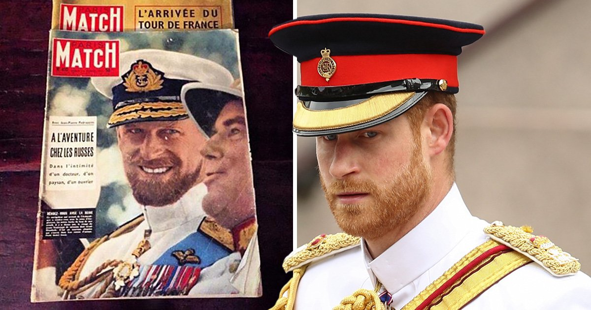 Prince Harry looks uncannily similar to grandfather Prince Philip in 1957