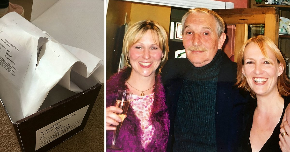 Daughter slams funeral parlour for sending father's ashes in envelope that ripped open