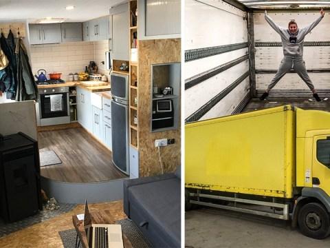 Couple build dream home in a Hovis Bread truck