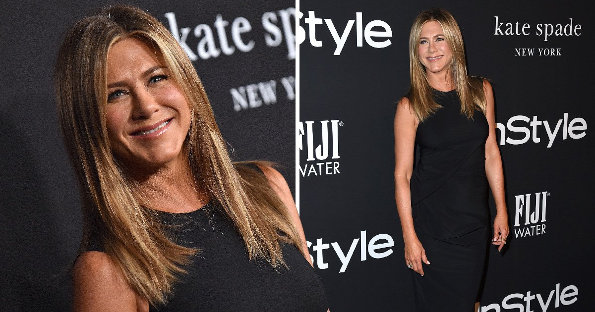 Jennifer Aniston wins the InStyle Awards red carpet with her hairstylist in tow