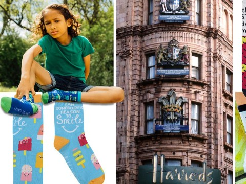 Boy, 10, launches sock business that's even got Harrods interested