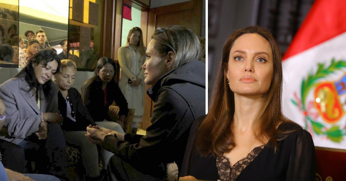 Angelina Jolie gets back to saving the world as she visits Peru to hear the plight of Venezuelan refugees