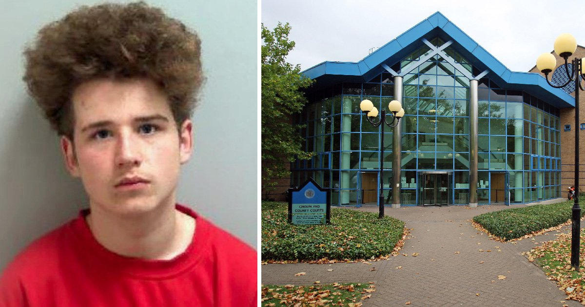 Boy who jumped off moped and stabbed stranger can finally be named as he's jailed
