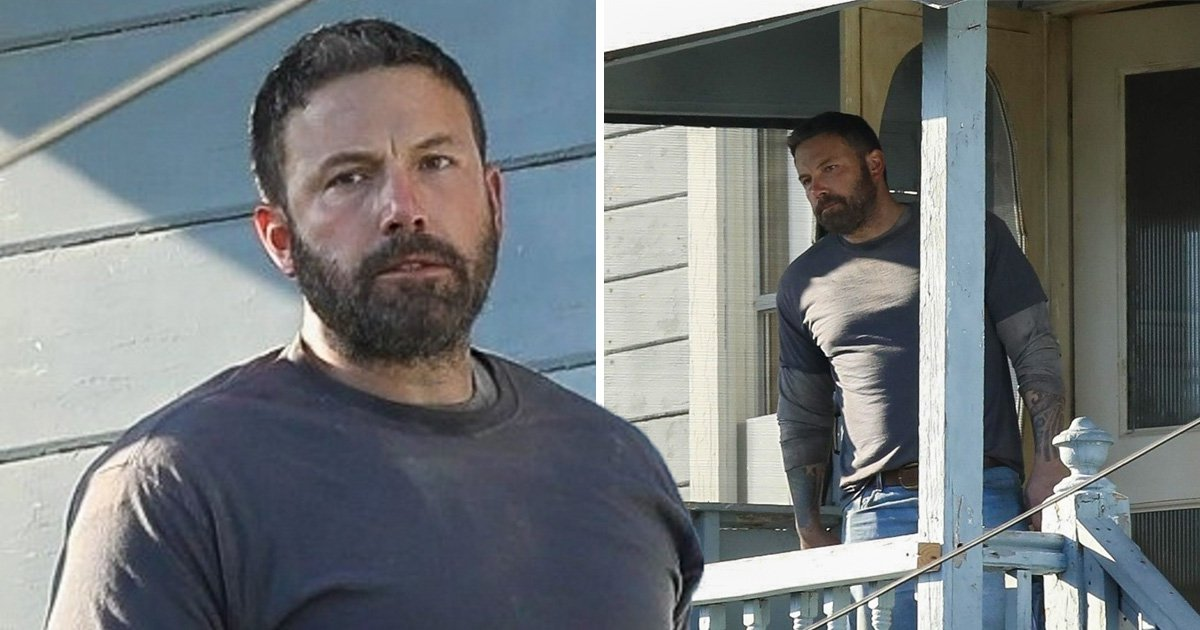Ben Affleck pictured with 12 pack of beer on set of new movie after leaving rehab