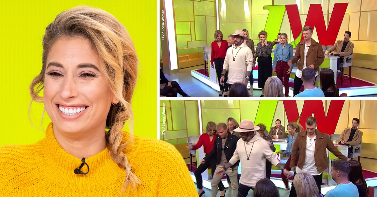 Stacey Solomon is all of us as Backstreet Boys teach Loose Women how to dance