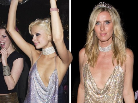 Nicky Hilton recreates sister Paris's iconic 21st dress for Halloween and we are living for it