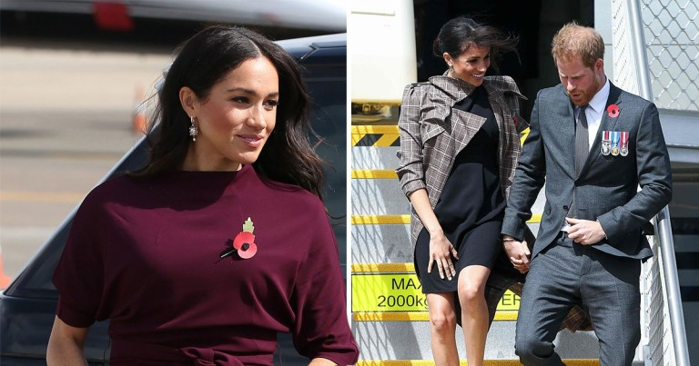 3e36218e3ca24 Everything Meghan Markle is wearing in Australia with Prince Harry – from  simple Asos £35 dress to showstopping Oscar De La Renta