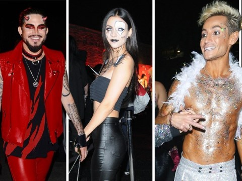 Frankie Grande, Avril Lavigne and Adam Lambert have taken their Halloween costumes very seriously