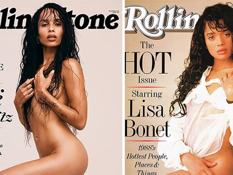 Zoë Kravitz pays homage to her mother Lisa Bonet by recreating iconic nude pose