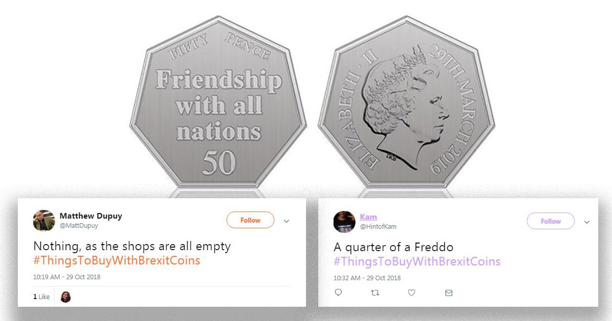 People are suggesting things to buy with Brexit coins (and we don't think they are in favour)