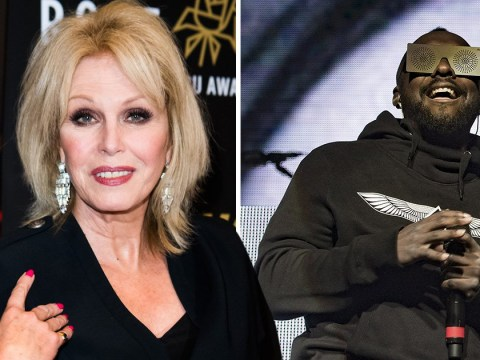 What time is the Black Eyed Peas anniversary show and why is Joanna Lumley hosting it?