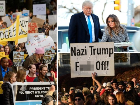 Mass protests as Donald and Melania Trump visit Pittsburgh after synagogue massacre