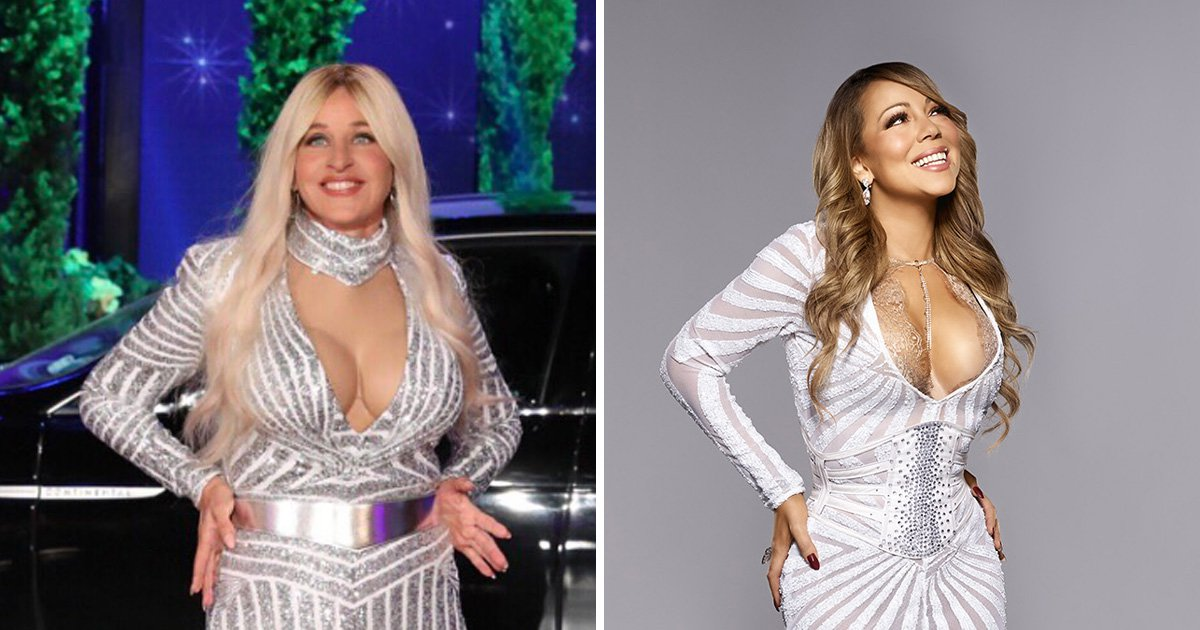 Ellen DeGeneres dressed as Mariah Carey is all we want for Halloween