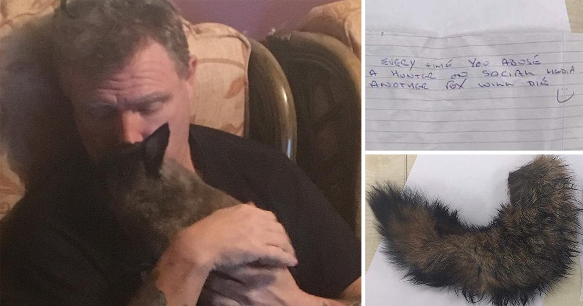 Animal activist finds dismembered fox tail pinned to windscreen after hunting protest