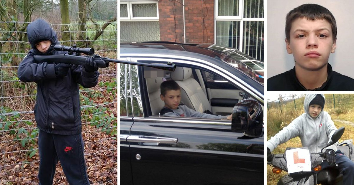 Serial criminal joyrider, 18, yawns as he is jailed for running over PC