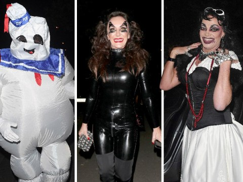 David Walliams channels his inner villain for Jonathan Ross' Halloween party as Charlie Brooker goes full Ghostbusters