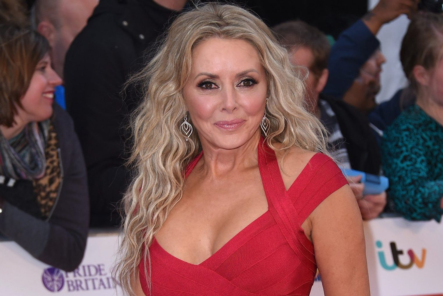 Broadcaster Carol Vorderman attends the Pride of Britain awards at The Grosvenor House Hotel on September 28, 2015 in London, England. LONDON, ENGLAND - SEPTEMBER 28: (Photo by Gareth Cattermole/Getty Images)