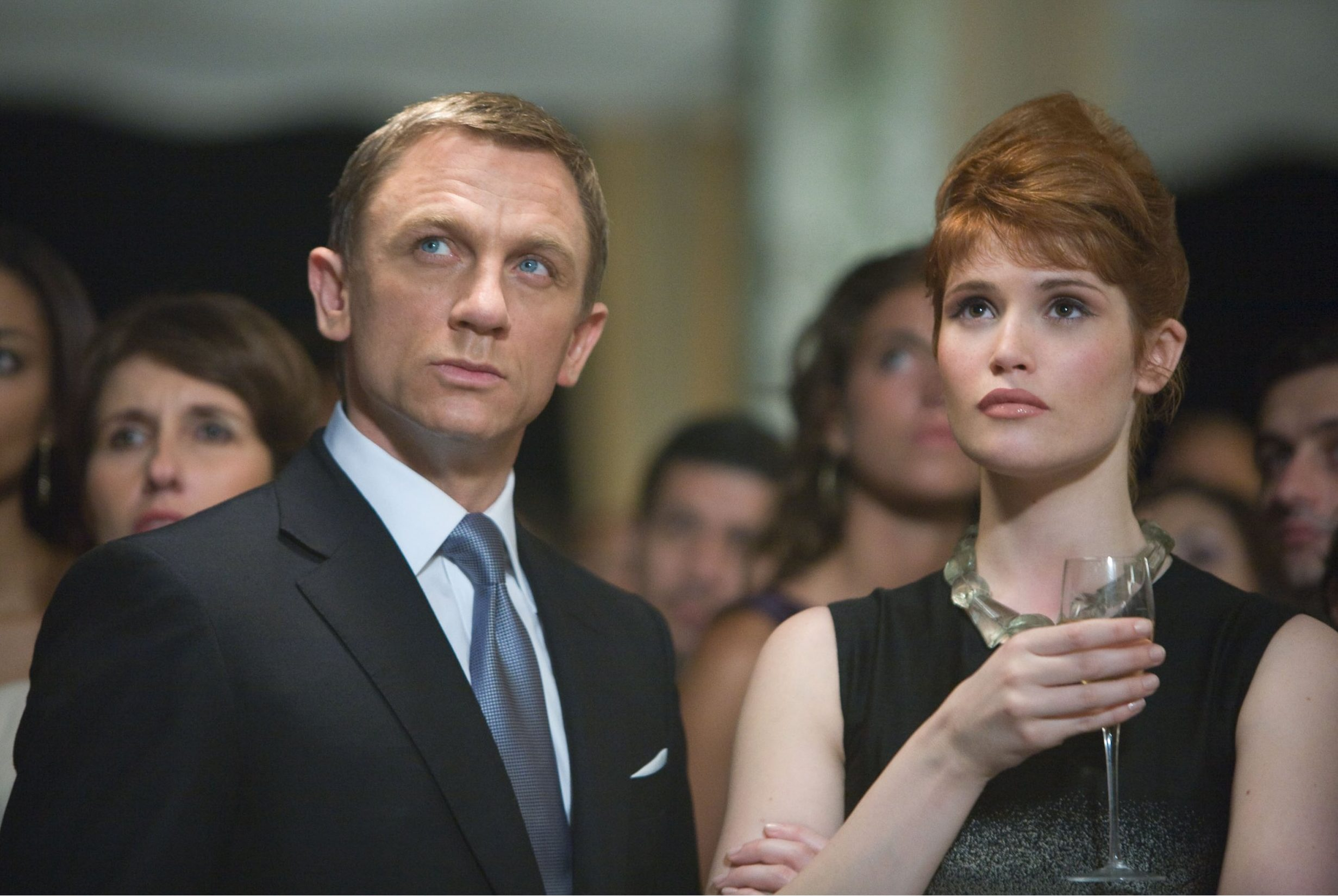 No Merchandising. Editorial Use Only. No Book Cover Usage. Mandatory Credit: Photo by MGM/Columbia/EON/Kobal/REX/Shutterstock (5886228p) Daniel Craig, Gemma Arterton Quantum Of Solace - 2008 Director: Marc Forster MGM/Columbia/EON UK Scene Still James Bond Action/Adventure