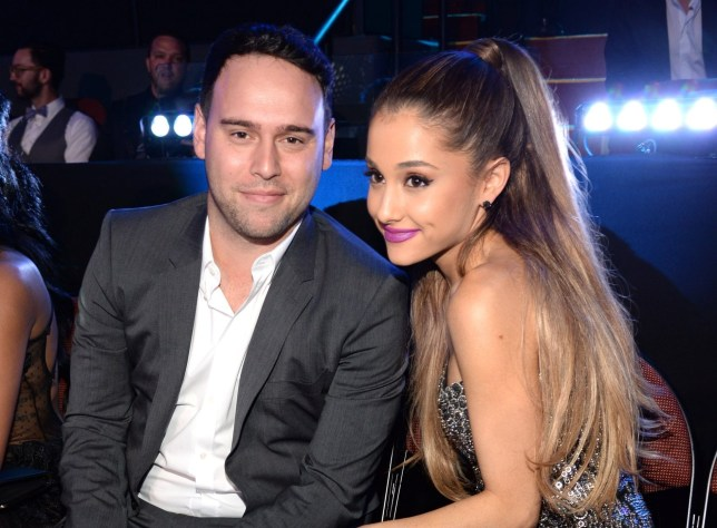 INGLEWOOD, CA - AUGUST 24: Scooter Braun and Ariana Grande attend the 2014 MTV Video Music Awards at The Forum on August 24, 2014 in Inglewood, California. (Photo by Kevin Mazur/MTV1415/WireImage)