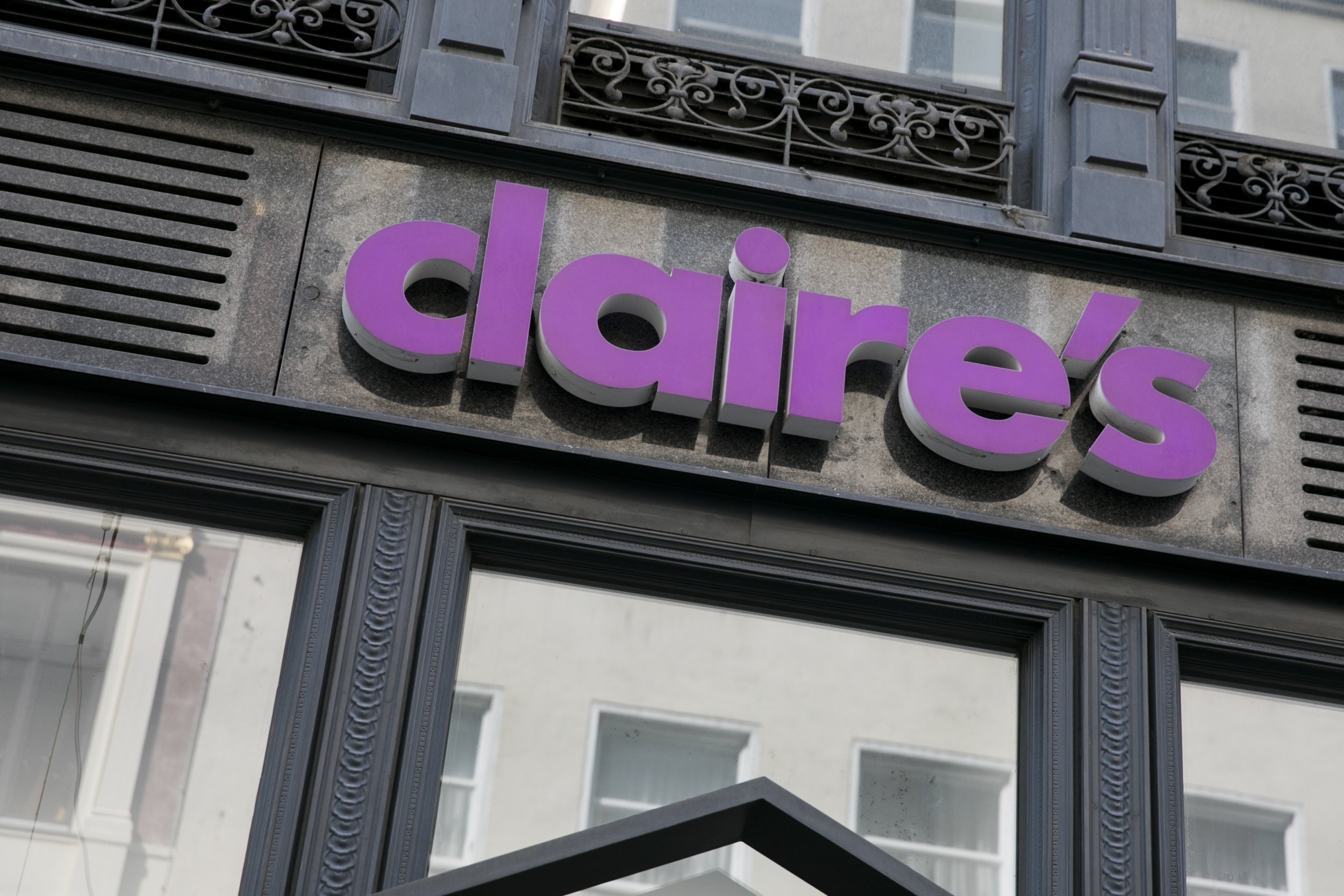 SIPA USA via PA Images A logo sign outside of a Claire's retail store in Vienna, Austria, on September 4, 2018. (Photo by Kristoffer Tripplaar/Sipa USA)