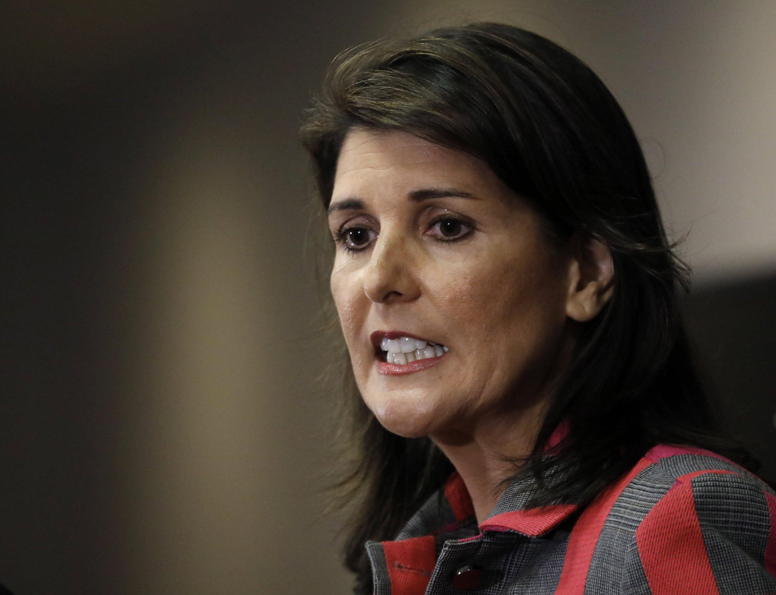 Why did Nikki Haley resign as US ambassador to UN?
