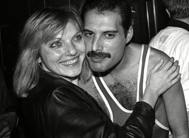 Mandatory Credit: Photo by Alan Davidson/REX/Shutterstock (7544068f) Freddie Mercury's 38th Birthday Party at Club Xenon After Queen's London Leg of 'The Works' European Tour at Wembley Arena Mary Austin and Freddie Mercury Freddie Mercury's 38th Birthday Party at Club Xenon After Queen's London Leg of 'The Works' European Tour at Wembley Arena - 05 Sep 1984