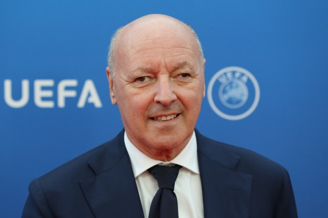 (FILES) In this file photo taken on August 30, 2018 shows Juventus sporting director Giuseppe Marotta arriving to attend the draw for UEFA Champions League football tournament at The Grimaldi Forum in Monaco. - Juventus chief executive Giuseppe Marotta confirmed on September 29, 2018, he is leaving the reigning Serie A champions next month after eight years in Turin. (Photo by Valery HACHE / AFP)VALERY HACHE/AFP/Getty Images